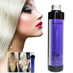 Без желтого шампуня, серебристый шампунь, сохраняет волосы пепельно-серыми, устраняет желтые антибрасичные долговечные окрашенные цветные...