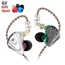 KZ ZSX Metal Headset 5BA+1DD 12 Unit Hybrid In-ear Earphones HIFI Metal Headset Music Sport HIFI Bas