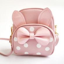 School Fashion Backpacks 2021 New Girls Messenger Bag Fashion Princess Baby Backpack Kids Cute Bag Bow Soft Leather Bag