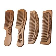 Handmade Wooden Solid Hair Comb Anti-Static Detangling Brush Massage Scalp for