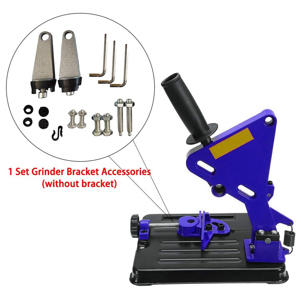 DIY 45° Angle Grinder Stand Cutter Support Cast Bracket Base Accessories Set