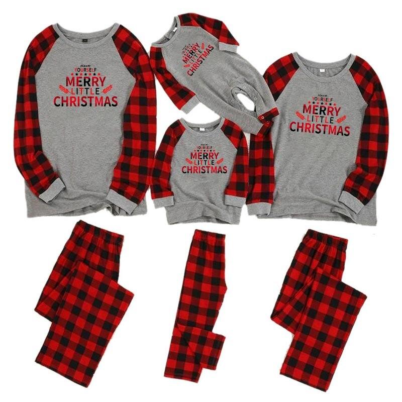 Рождественские пижамы для всей семьи, комплект для мамы, дочки, папы и сына, комбинезон, одежда для сна одинаковые комплекты для папы, мамы и меня одежда для мамы и ребенка - Цвет: color 10