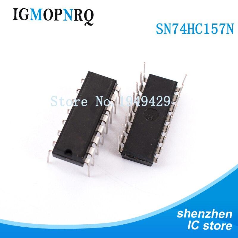 10 шт. SN74HC157N DIP16 SN74HC157 74HC157N 74HC157 кодировщик, декодер, мультиплексор и демультиплексор Quad DataNew