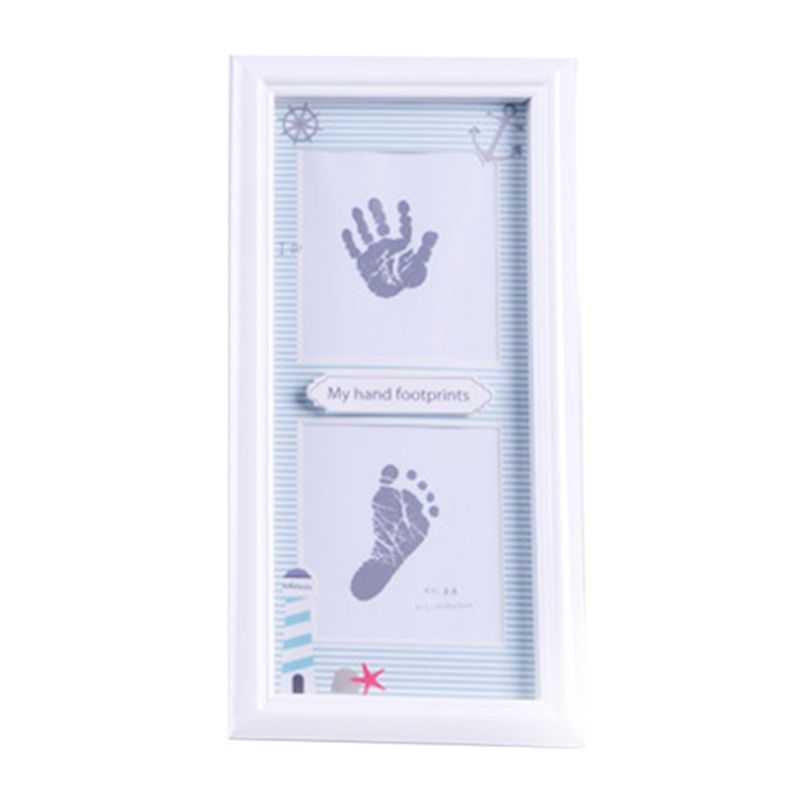 Wall Decoration Newborn Infants Hand Foot Print Mud Photo Frame Baby Souvenir Hundred Days New Parents Gifts Drop Shipping