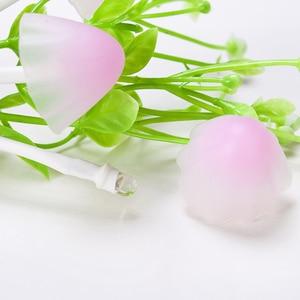 Image 4 - לילה אור 7 צבע שינוי חשכה לשחר חיישן LED לילה אורות פרח פטריות מנורת שינה Babyroom מנורות לילדים מתנות