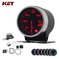 2 Inch 52MM Smoke Lens 0 6Bar Fuel Press Gauge Fuel Pressure Meter With Stepper Motor