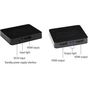 Image 4 - Larryjoe HDCP 4K HDMI Splitter Full HD 1080p Video HDMI Switch Switcher 1X2 Split 1 in 2 Out Versterker Dual Display Voor HDTV DVD