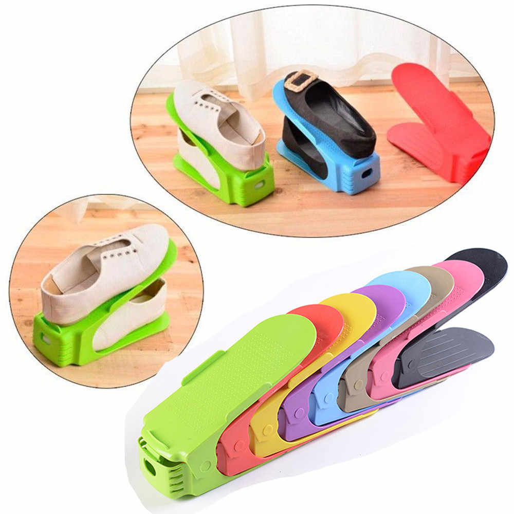 Creative Plastic Shoes Rack Organizer Space-Saving Storage Adjustable Durable Home Improvement Useful Tools Drop Shipping #R5