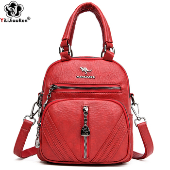 Fashion Small Backpack Women Leather Backpack Designer Shoulder Bags for Women School Bags for Teenage Girls Travel Back Pack mini leather women backpacks rivets travel shoulder bagpack shell small backpack school bags for teenage girls travel back pack