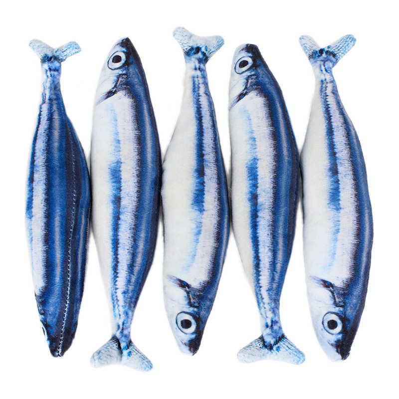 Artificielle drôle poisson en peluche chat jouets menthe cataire fournitures pour animaux de compagnie dormir réaliste poisson jouet oreiller poupée