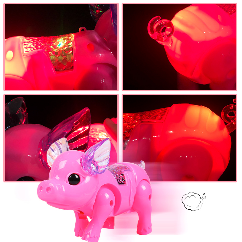 Flashing Walking Pig Toys Boys Funny Musical Pig Electronic Pets Toy Children Interactive Gadgets Electronic Toys Boy Girl Gifts