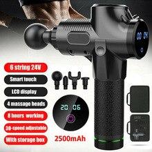 חדש חם כלי הקשה עיסוי רובים כלי 4 ראשי 30 מהירויות רטט שרירים גוף טיפול לעיסוי ביתי תיקון כלים