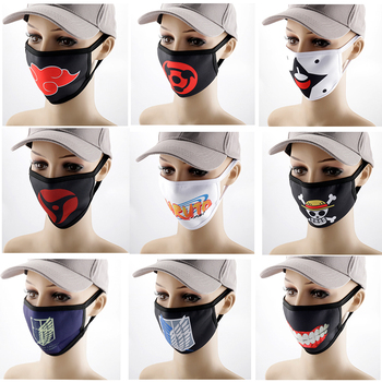 Hot Cartoon Naruto One Piece ATTACK ON TITAN Mask Face Mouth маски Space Cotton Mascherine Washable Masque