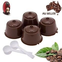 4 sztuk wielokrotnego użytku Nescafe kapsułka kawy dolce gusto filiżanka filtrowa wielokrotnego napełniania czapki łyżka szczotka filtr kosze Pod miękki smak słodki w Filtry do kawy od Dom i ogród na