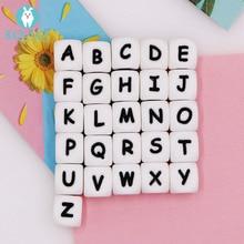 Kovict, 12 мм, 100 шт, силиконовые бусинки с буквами, Детские бусинки для прорезывания зубов, для персонализированного имени, сделай сам, грызун, Жевательные бусы с алфавитом