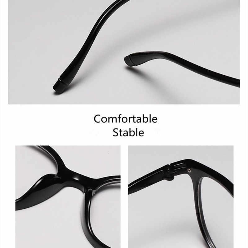 2020 แฟชั่น VINTAGE กรอบแว่นตากันแดดผู้หญิงยี่ห้อ Designer พลาสติกหญิงใหญ่ CLEAR เลนส์แว่นตาสีชมพู
