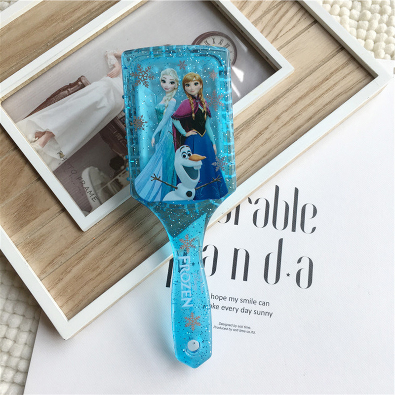 Disney Frozen 2 Style 2019 Kids Comb 3D Princess Cute Hair Brushes Hair Care Baby Girl Mermaid Hair Care Hair Comb Gifts