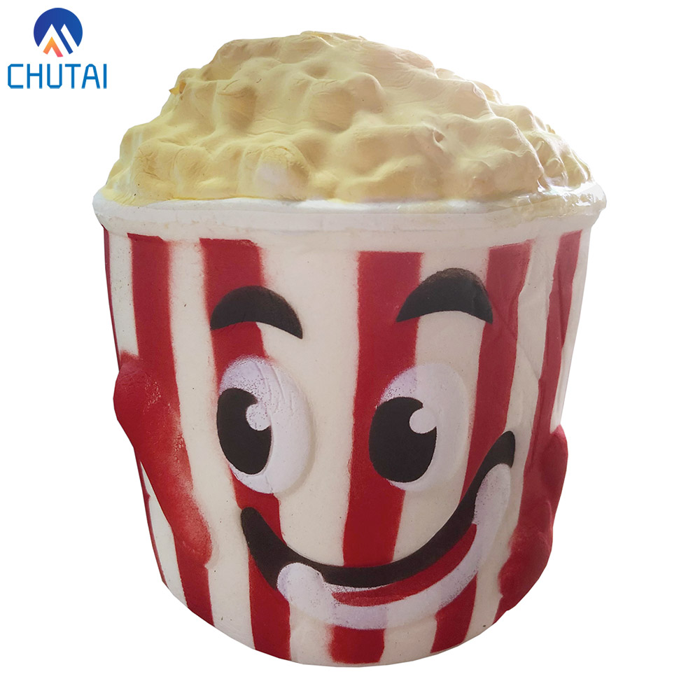 Jumbo Squishy Food Popcorn Bucket Squishies Cream Scented Slow Rising Stress Relief Toy Kids Birthday Party Xmas Gift 11*10CM