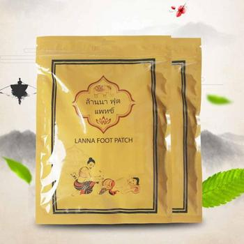 10pcs/bag Thailand Lanna Fuss Patch Natural Detox Foot Patch Pads Detoxify Toxins Adhesive Keeping Organic Herbal Patches image