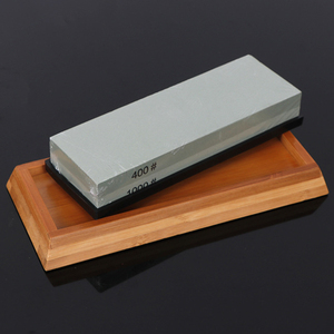 Image 5 - Sharpening Stone Set, Whetstone 2 IN 1 400/1000 3000/8000 Grit, Waterstone Wooden Holder and Knife Guide Included