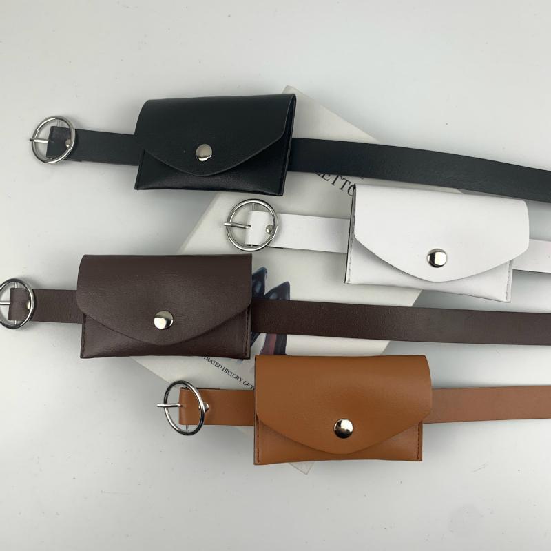 The unique fashion bag belt decorates the belt for the new designer women's classic versatile female minimalist jeans