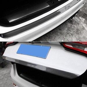 Image 5 - Karbon Fiber kauçuk kalıplama şerit yumuşak siyah Trim tampon şeritler DIY kapı eşiği koruyucu kenar koruyucu araba Styling araba çıkartmalar 1M