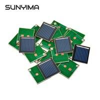 SUNYIMA 20 шт Мини Панели солнечные 0,5 V 80MA поликристаллические Кремниевые Солнечные батареи DIY Технология мини Материал