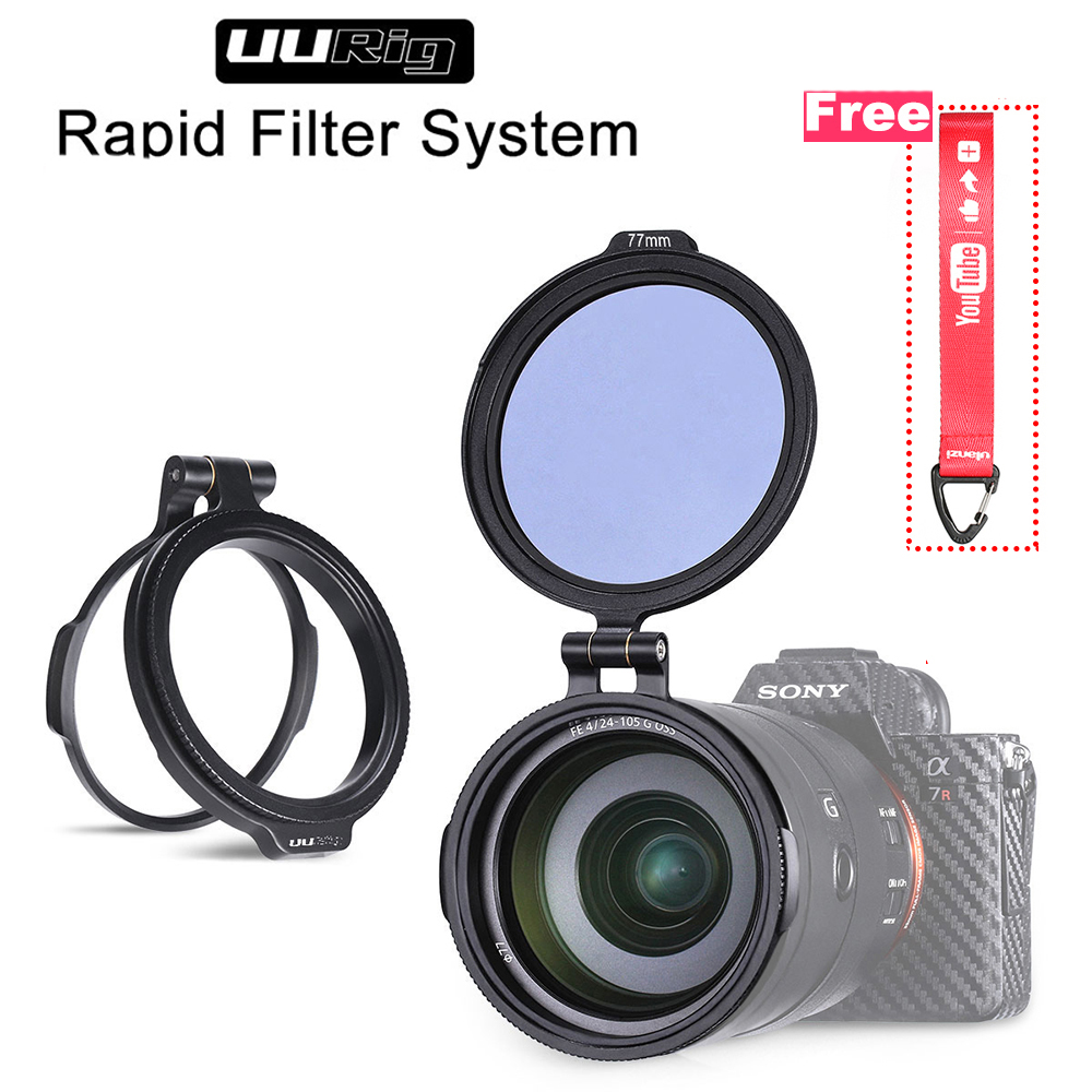 UURig RFS ND Quick Release DSLR Camera Accessory Filter Quick Switch Bracket for 58mm 67mm 72mm 77mm 82mm DSLR Lens Adapter Flip-in Photo Studio Accessories from Consumer Electronics