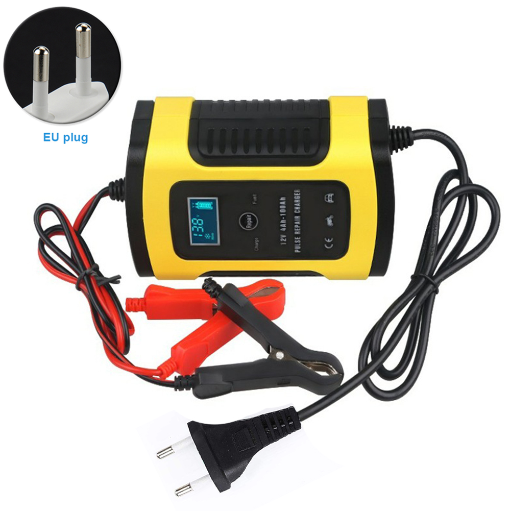 12V 6A Practical Power Intelligent Multiple Protection Repair Full Automatic <font><b>Car</b></font> <font><b>Battery</b></font> <font><b>Charger</b></font> <font><b>LCD</b></font> Display Fast Universal image