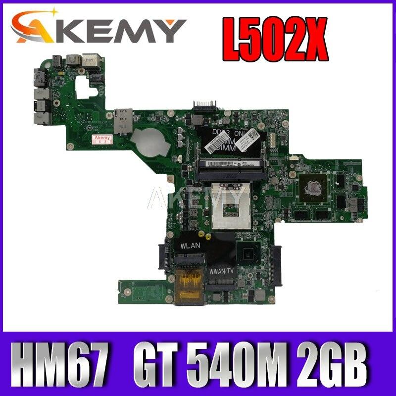 Материнская плата для ноутбука 714WC 0714WC DAGM6CMB8D0 s989 для Dell XPS L502X, материнская плата HM67 w/ GT 540M, работает 2 Гб
