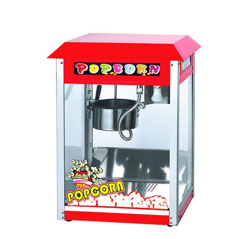 אדום פופקורן מכונת תירס חטיפי סרט מסחרי נירוסטה גבוהה-קיבולת תאורת באופן מלא אוטומטי תרמית בידוד מהיר