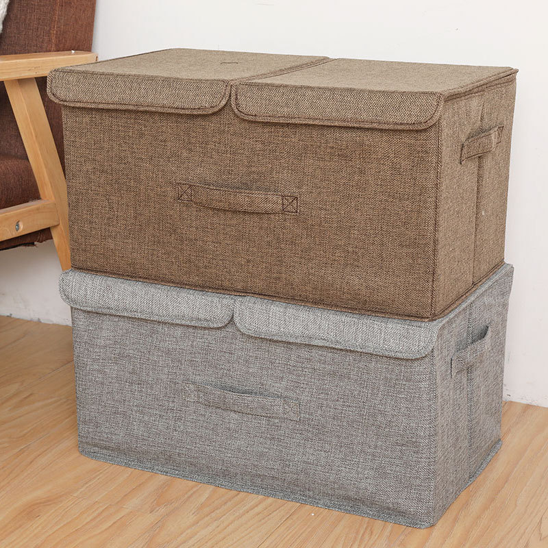 New Anti-mold Foldable Storage Box Organizers Large Carry Handles Great For Toy Clothes Blankets Organizador Zippe Box