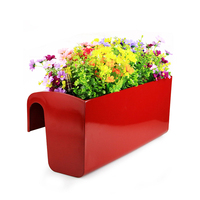 Creative Hanging Flower Pot Home Decoration Balcony Railing Green Plant Potted Water Free Irrigation