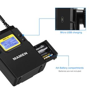 Image 4 - MAMEN UHF çift kanallı dijital kablosuz mikrofon sistemi 2bTransmitters 1 alıcı için kameralı telefon Video ses kayıt