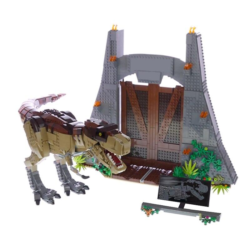 Lepinblock 61001 dinosaure parc Compatible 75936 Rex Rampage blocs de construction briques jouets éducatifs cadeaux de noël