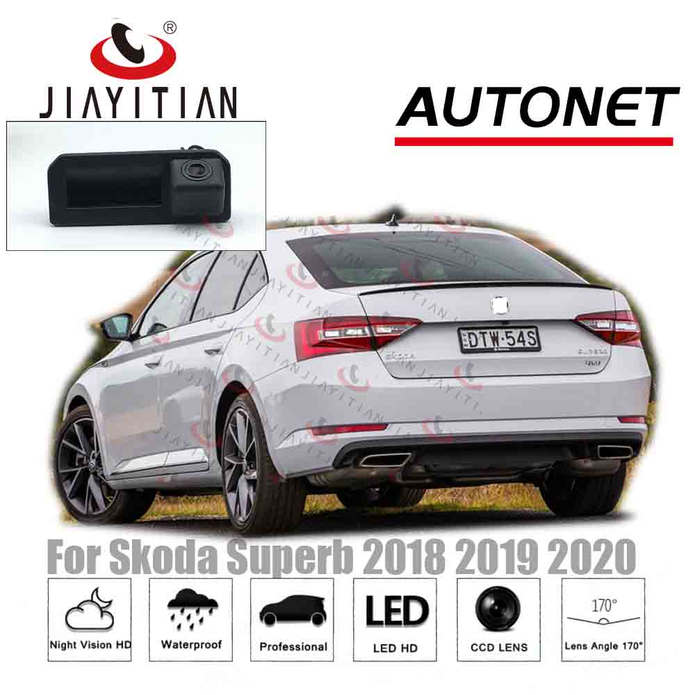 JIAYITIAN RearView Camera For Skoda Superb 2018 2019 2020/Original Factory Style/Instead Of Original Factory Trunk Handle Camera