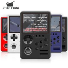 DATA FROG Handheld TV Video Game Console Build In 3200 Classic Games 16 Bit Mini Retro Game Console Support TF Card For MAME/GBA