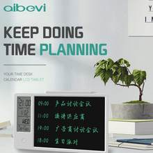 Aibevi Drawing Pad 10 Inch Temperature Humidity Display Electronic Calendar LCD Writing Tablet Doodle Board Type-c charging