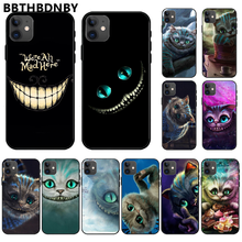 Alice In Wonderland Cheshire Cat Cover Hitam Lembut Shell Ponsel Case untuk iPhone 11 Pro Max X XS XR 7 8 PLUS 6 6 S 5 5S 5SE(China)