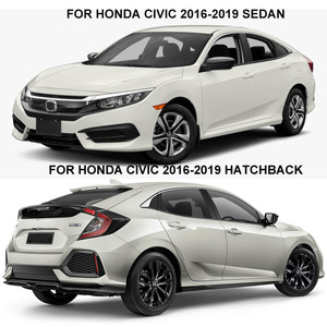 Image 5 - Ventana deflectores para Honda Civic 10th 2016, 2017, 2018, 2019, 2020 humo protector solar ventana Visor Sun lluvia deflectores riovalle