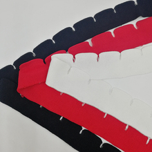 Rib-Fabric Cloth-Accessories Thin-Material Weird-Trend Bottom-Collar Knitted Hem Crescent
