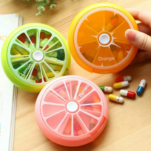 Caixa de pílula giratória semanal caso divisor tablet armazenamento organizador medicina 7 dia pílula recipiente para viagens
