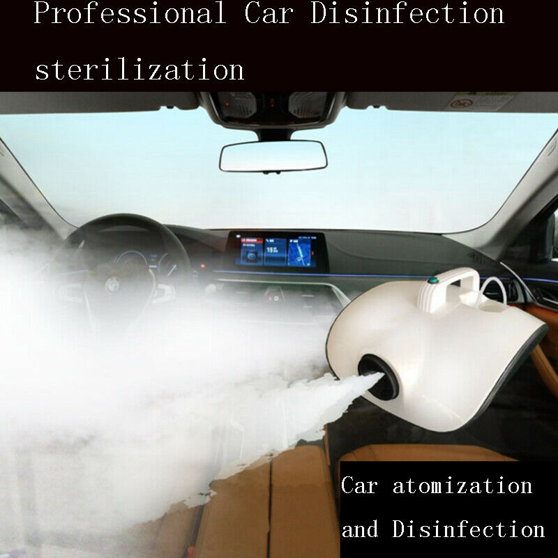 220V 900W Portable Car Atomizing Fog Smoke Disinfection Sprayer Atomization Disinfectant Machine Car Smoke Machine Room Office