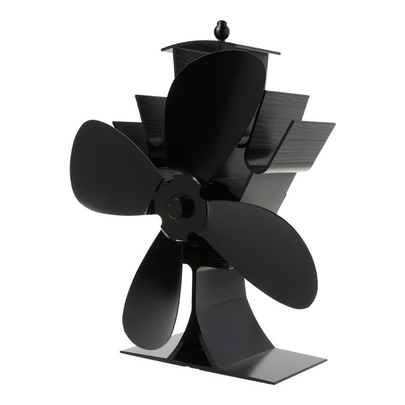 Home Silent Stove Fan With 4 Blades Heat Powered Electrical Fan For Fireplace Y1QB