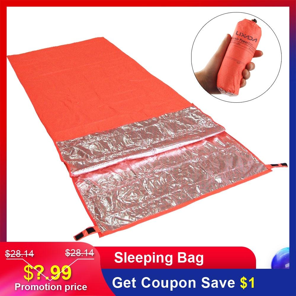Lixada portátil saco de dormir calor reflexivo acampamento saco de dormir ao ar livre turismo esteira de sobrevivência caminhadas saco de dormir 200x72cm