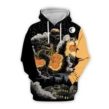 halloween print 3d hoodie streetwear horror men sweatshirt harajuku girl 2019 fashion skulls hoodies black clothes