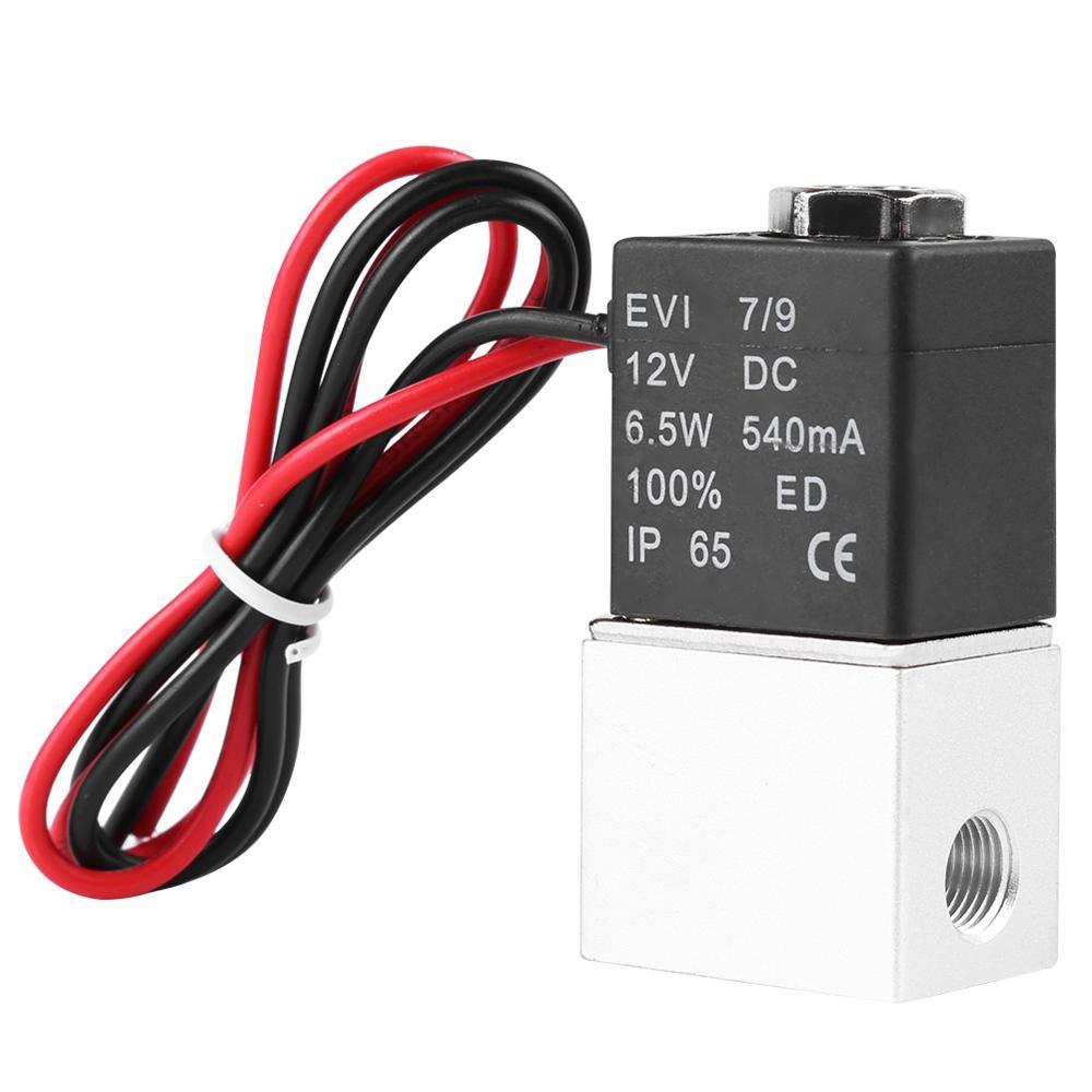 """Электромагнитный клапан постоянного тока 12 В 1/"""" 1/8"""" 2 варианта нормально закрытые пневматические клапаны прямого действия для горячей воды, воздуха, Газа"""