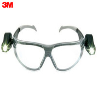 Safety Goggles 3M 11356 00000M Security Protection Workplace Safety Supplies protects against fogging and scratches Open glasses with two led directional light flashlights