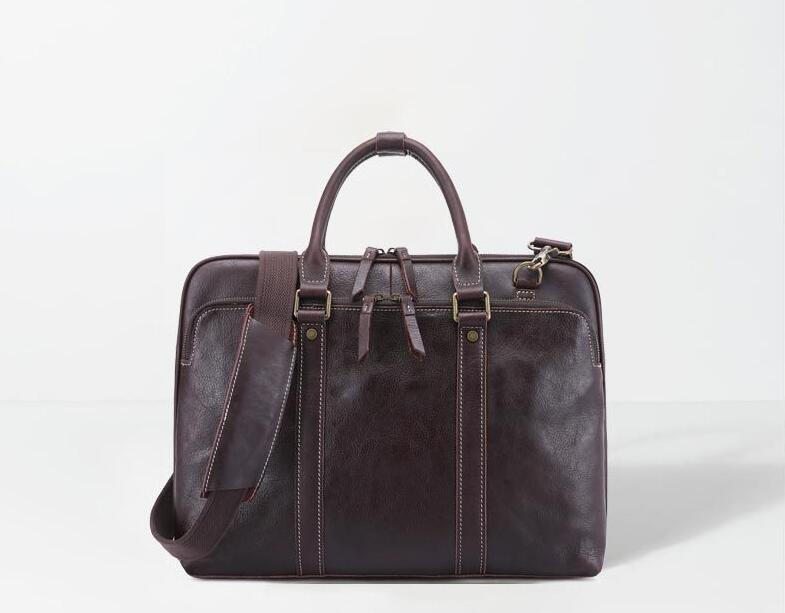 Genuine Leather Large Capacity Men Casual Briefcase OL Business Bag