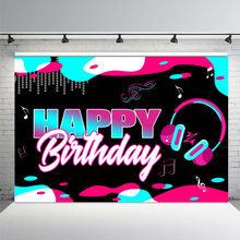 Dynamic Music Headset Musical Note Backdrop Girl Birthday Party Decoration Kid Room Newborn Custom Background Photography Photos